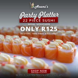 22 Piece Sushi Party Platter